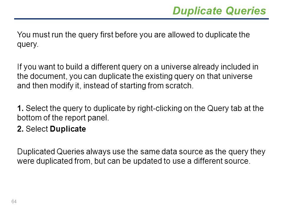 Duplicate Queries