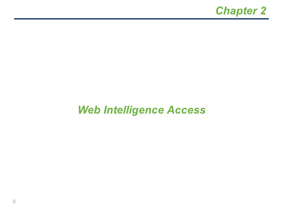 Web Intelligence Access