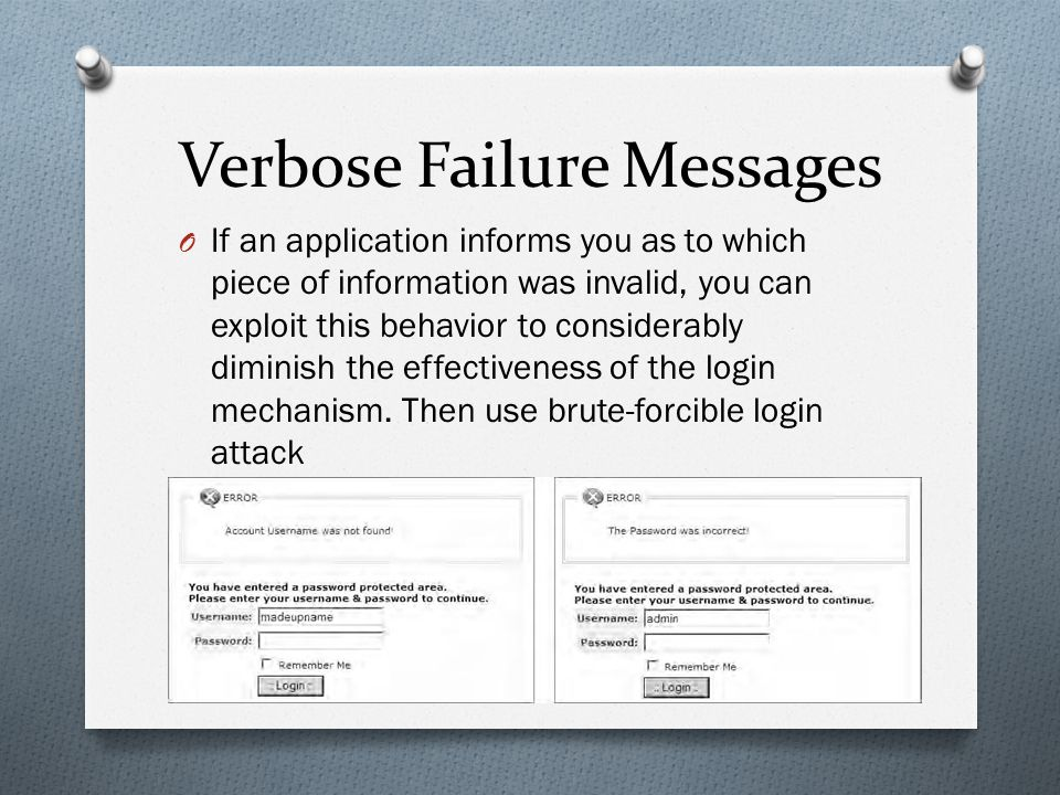 Verbose Failure Messages