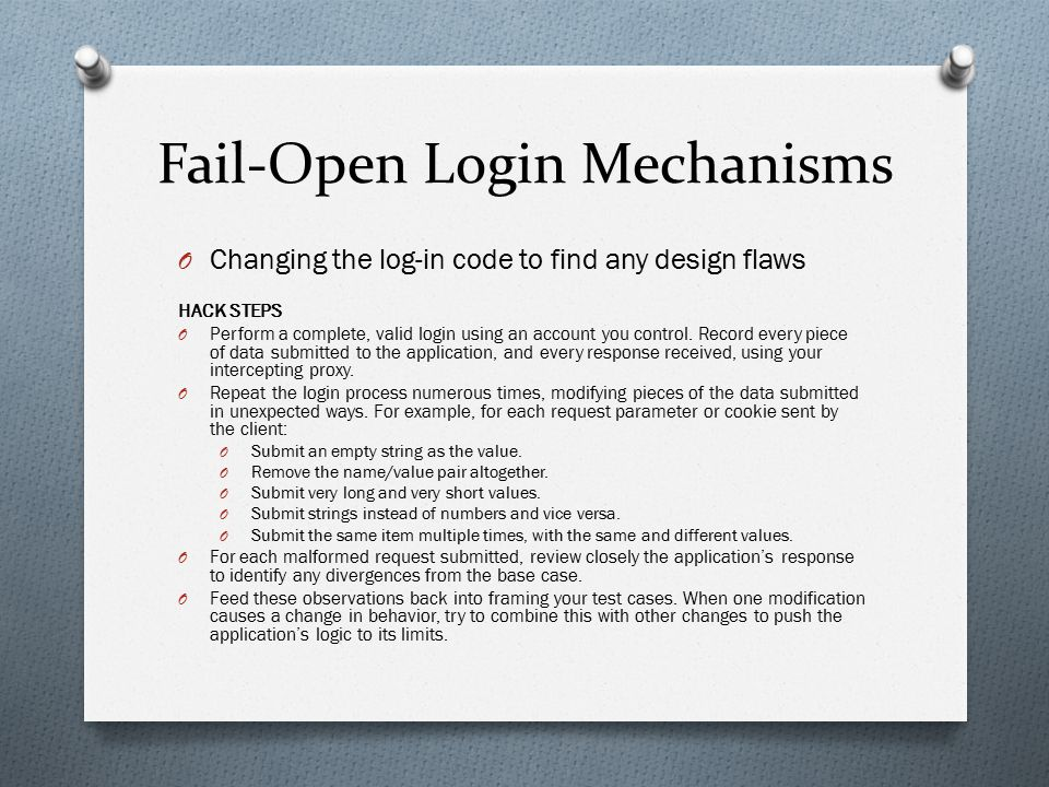 Fail-Open Login Mechanisms