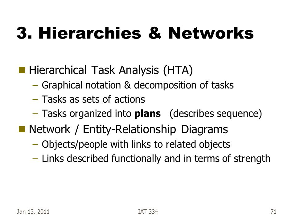 3. Hierarchies & Networks