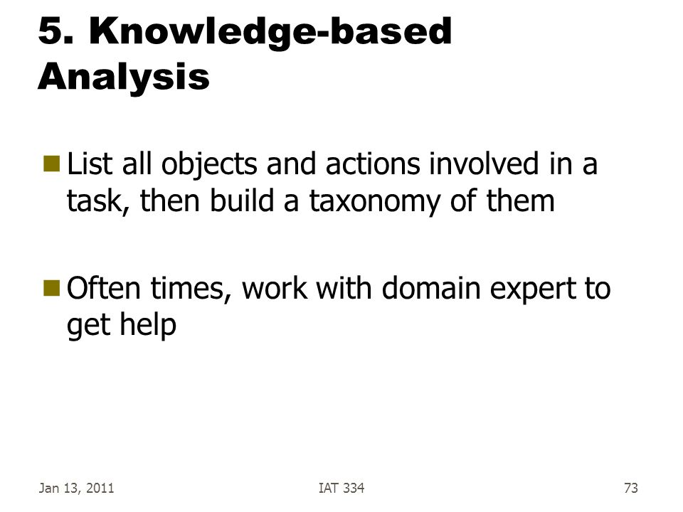 5. Knowledge-based Analysis