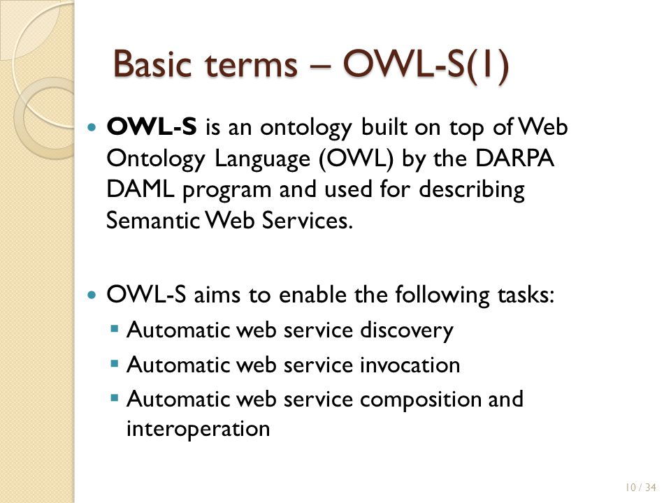 Basic terms – OWL-S(1)