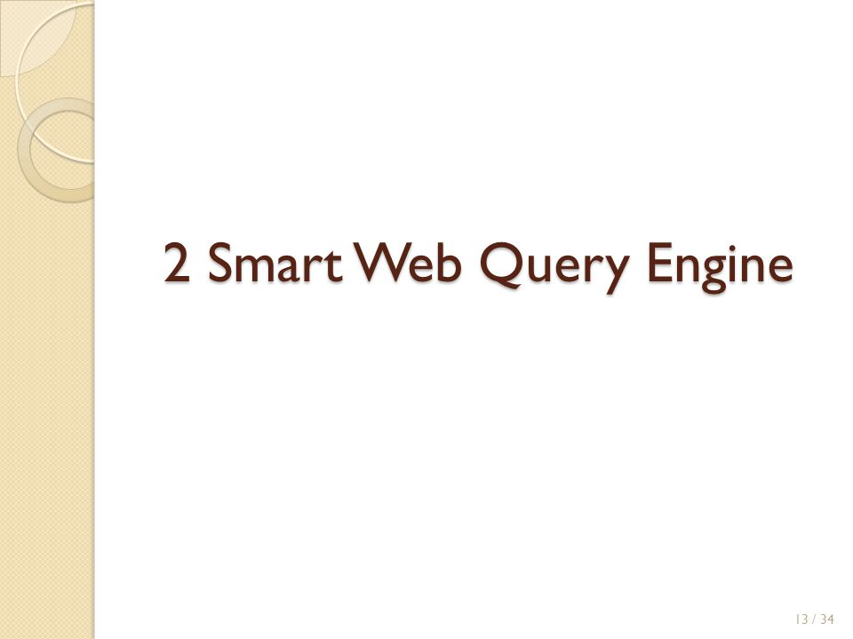 2 Smart Web Query Engine