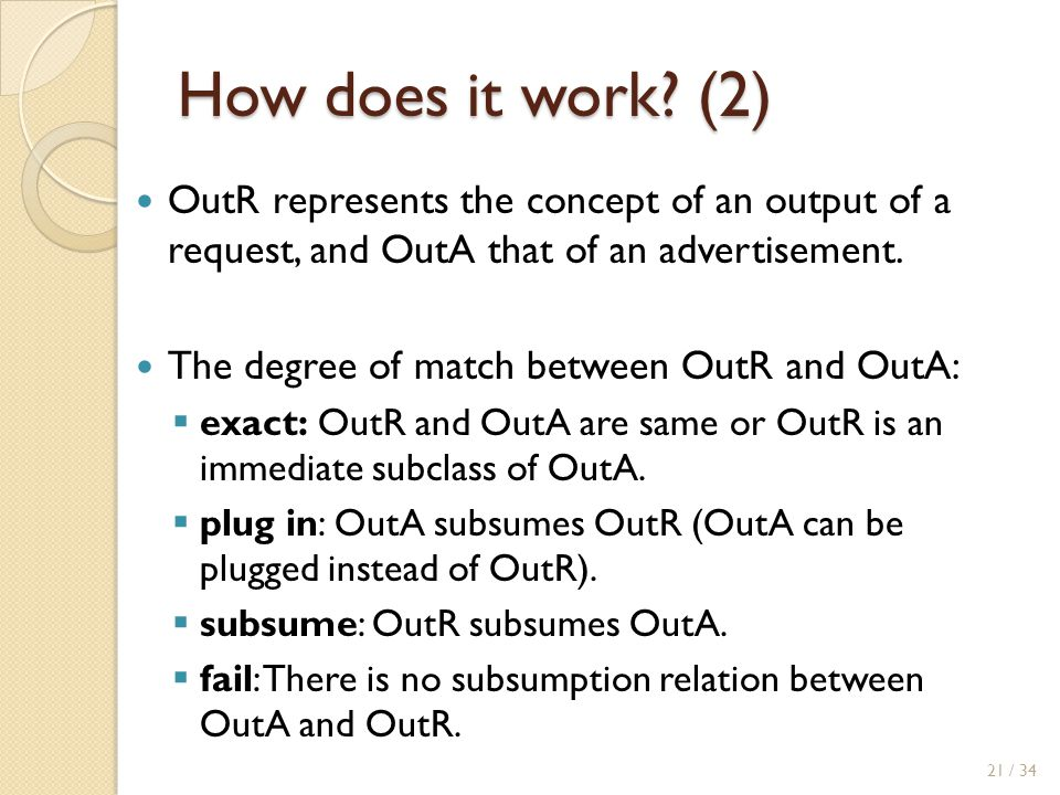 How does it work (2) OutR represents the concept of an output of a request, and OutA that of an advertisement.