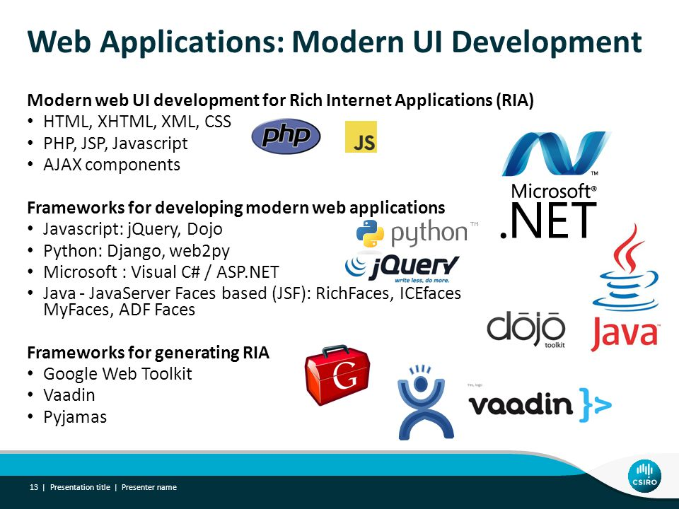 Web Applications: Modern UI Development