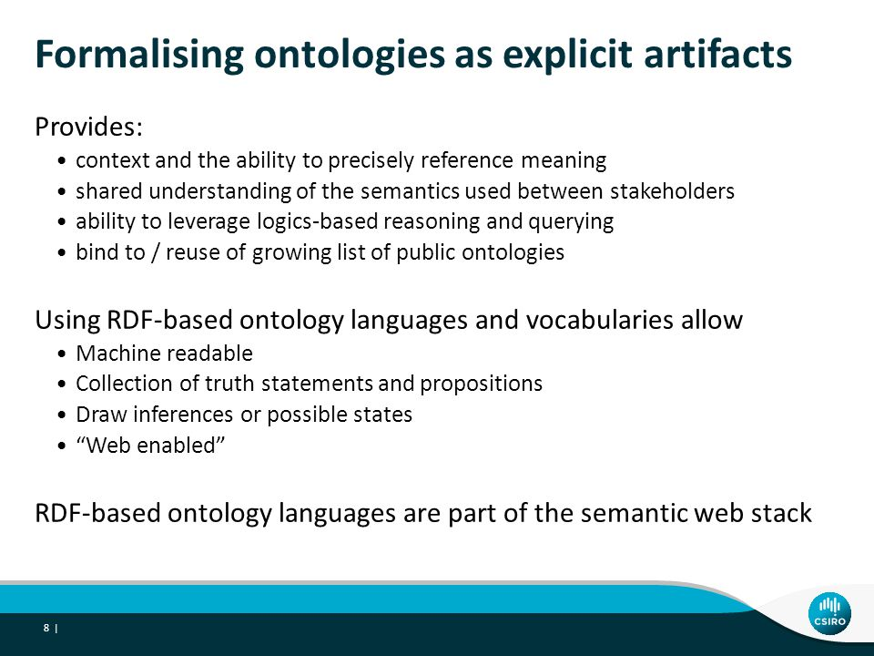 Formalising ontologies as explicit artifacts