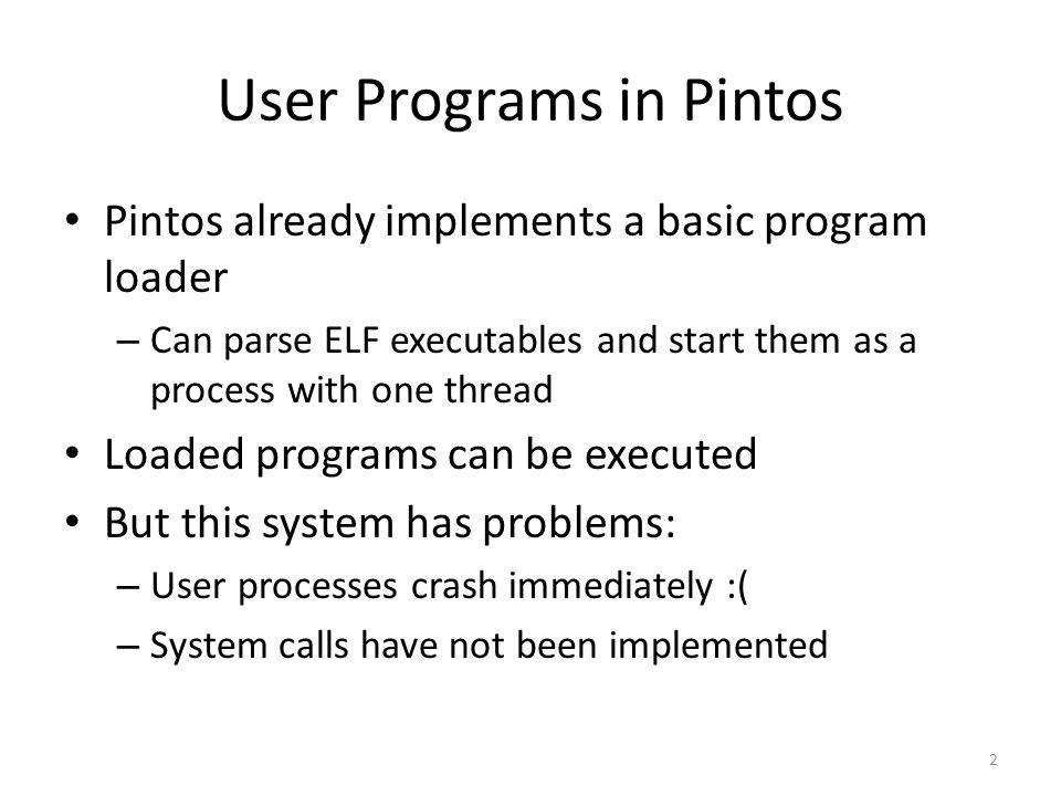 User Programs in Pintos