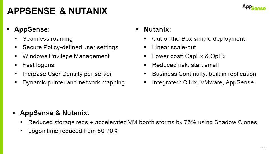 AppSense & nutanix AppSense: Nutanix: AppSense & Nutanix: Nutanix: