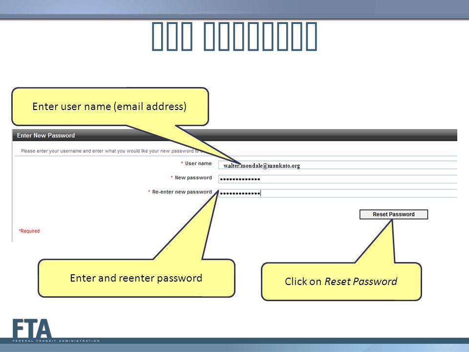 Set Password Enter user name (email address)