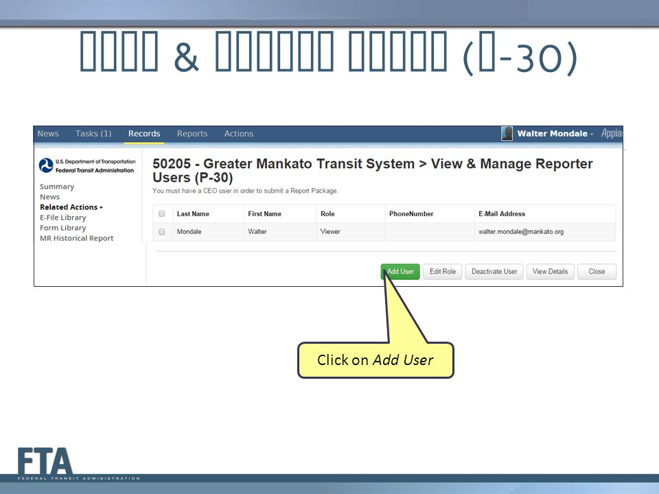 View & Manage Users (P-30)
