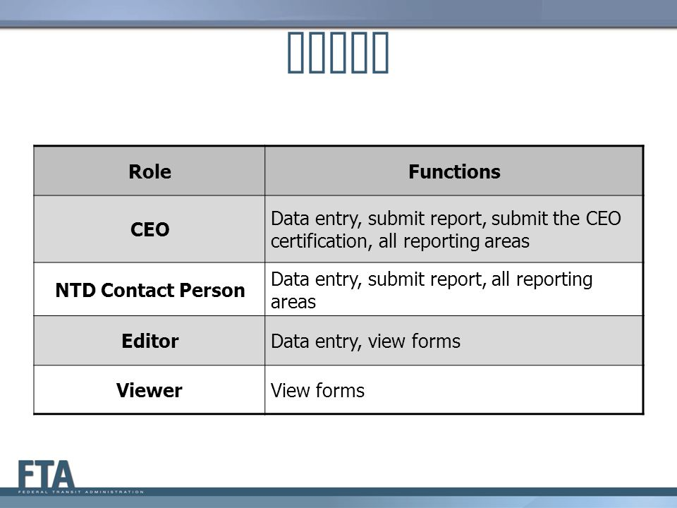 Roles Role Functions CEO
