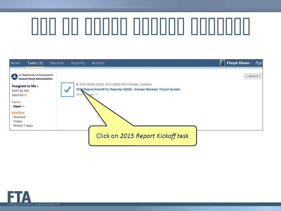 How to Start Report Kickoff
