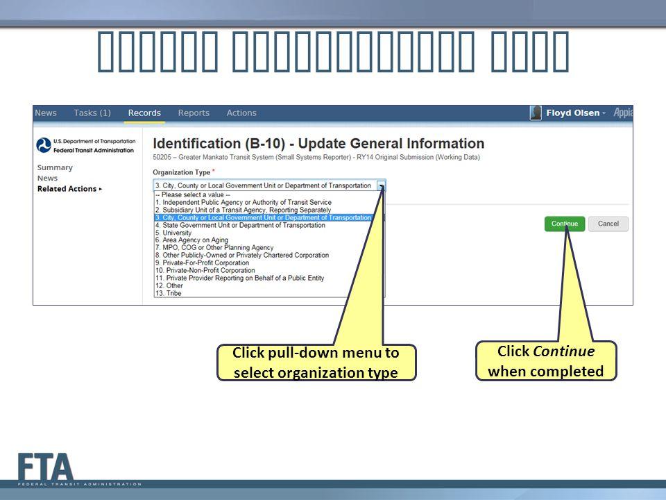 Update Organization Type