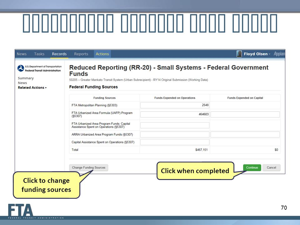 Customized Federal Data Entry