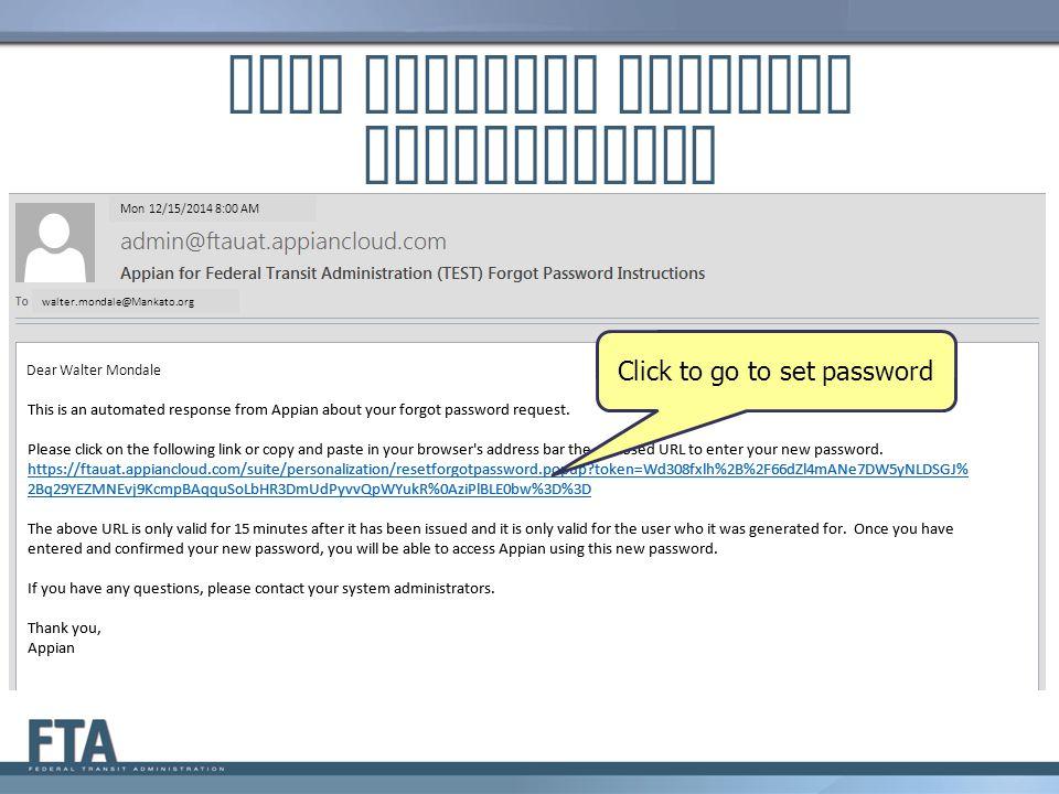 LSUM Receives Password Instructions