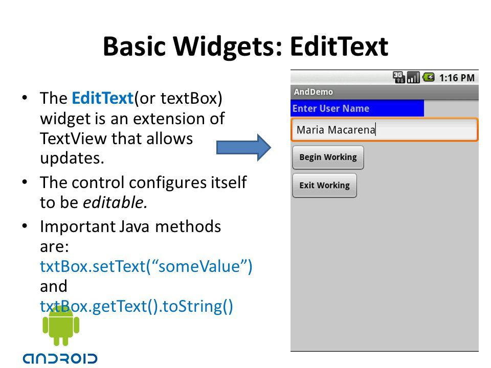 Basic Widgets: EditText