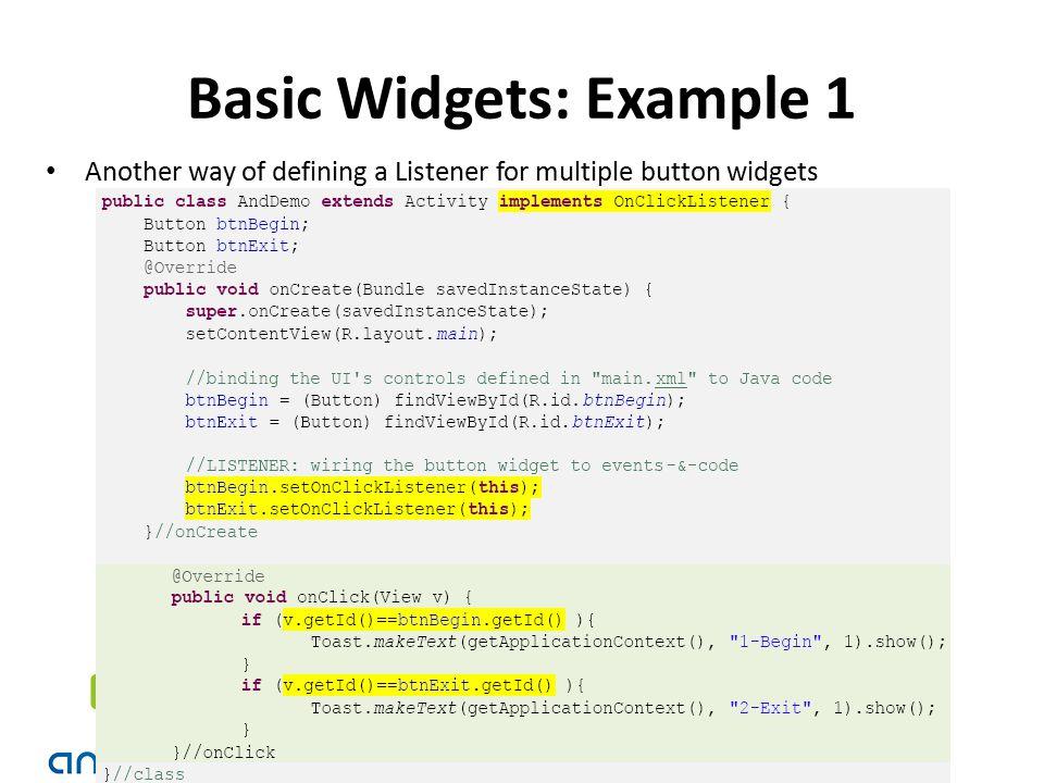 Basic Widgets: Example 1