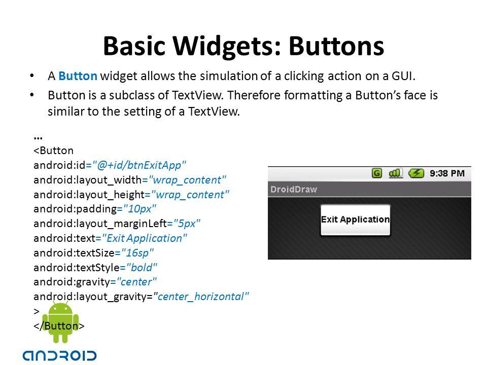 Basic Widgets: Buttons
