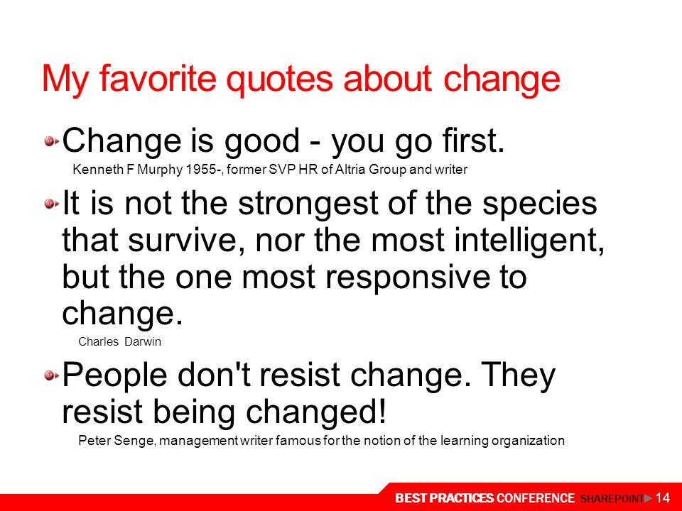 My favorite quotes about change