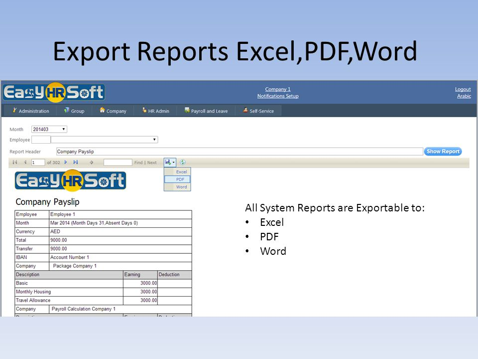 Export Reports Excel,PDF,Word