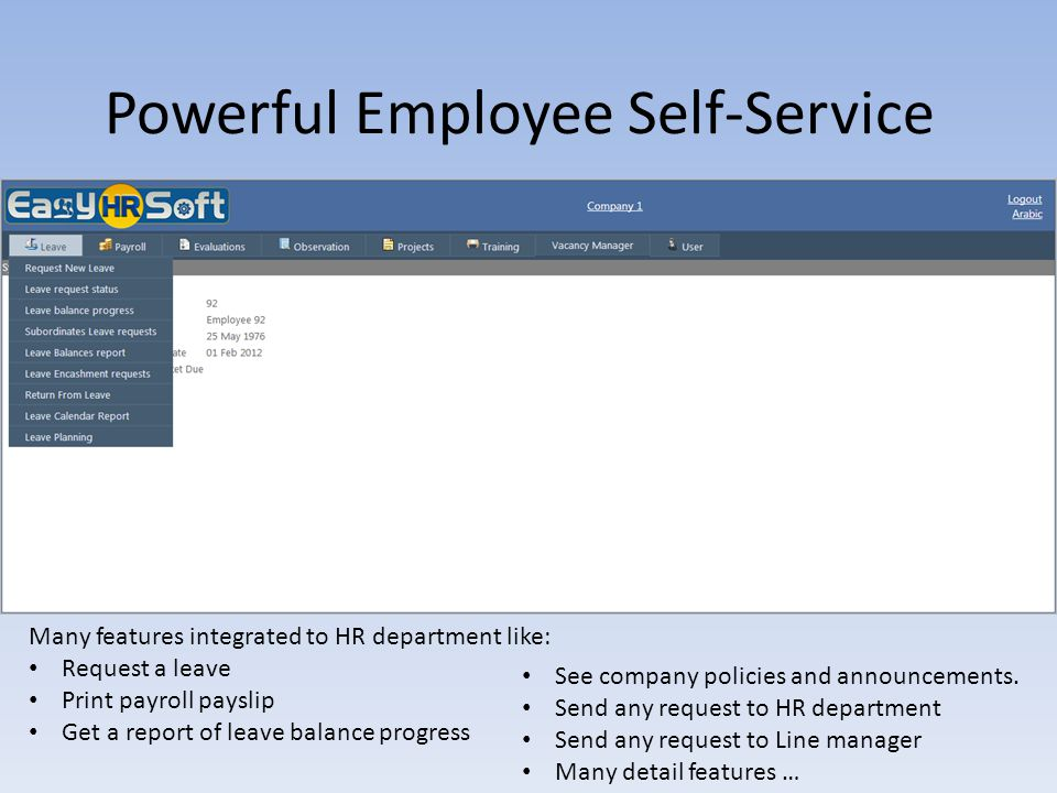 Powerful Employee Self-Service