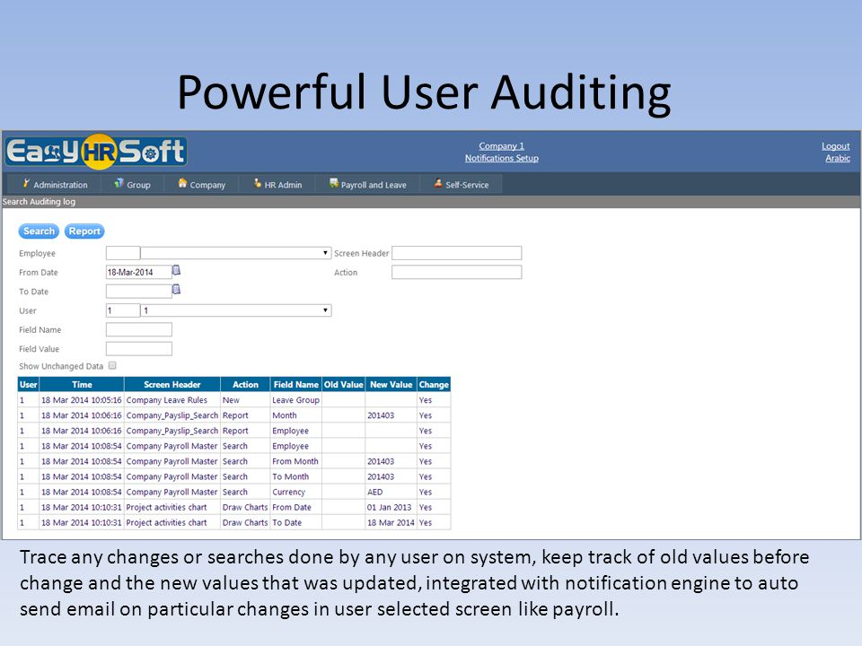 Powerful User Auditing