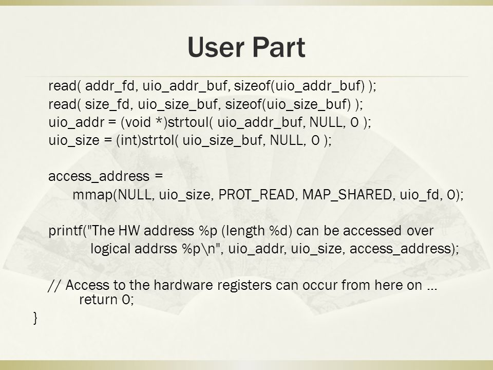 User Part
