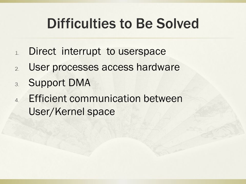 Difficulties to Be Solved