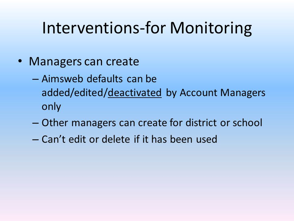 Interventions-for Monitoring