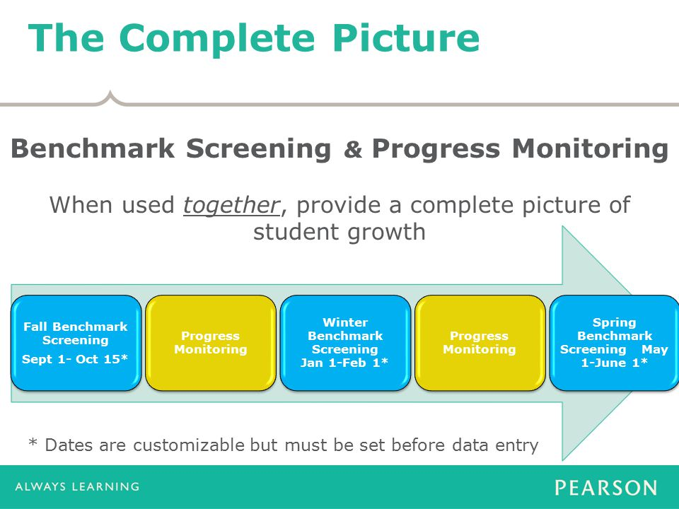 The Complete Picture Benchmark Screening & Progress Monitoring