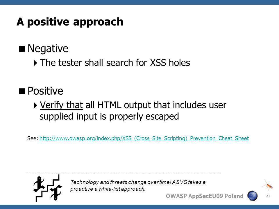 A positive approach Negative Positive