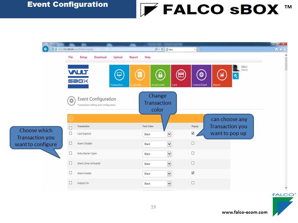 ™ Event Configuration Change Transaction color