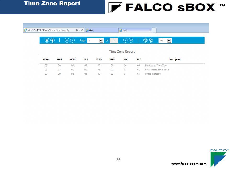 Time Zone Report ™ 38 www.falco-ecom.com