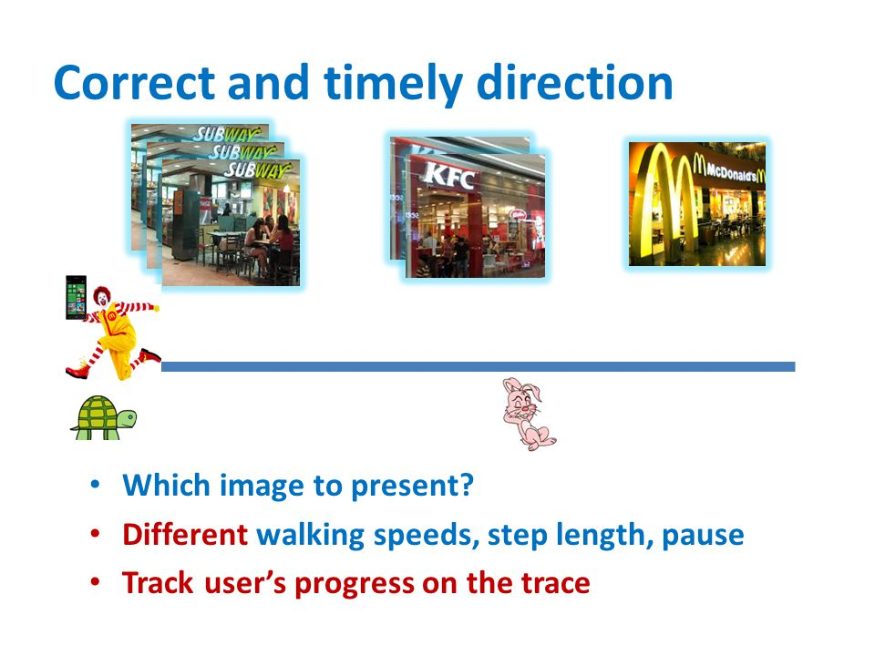 Correct and timely direction