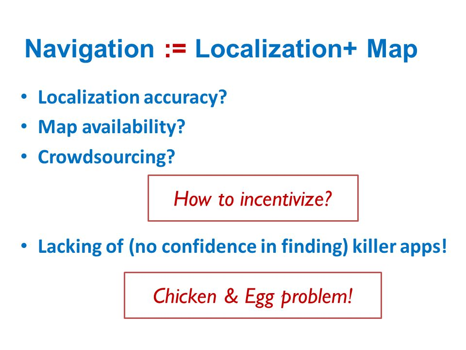 Navigation := Localization+ Map