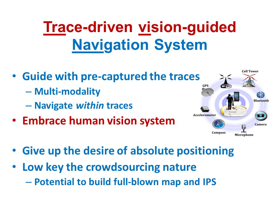 Trace-driven vision-guided Navigation System