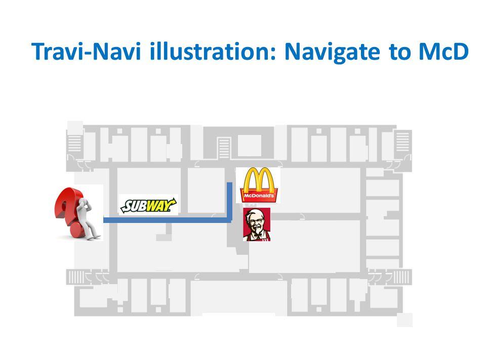 Travi-Navi illustration: Navigate to McD
