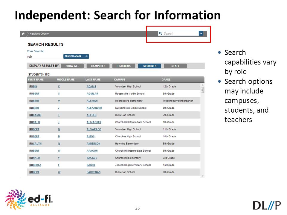 Independent: Search for Information
