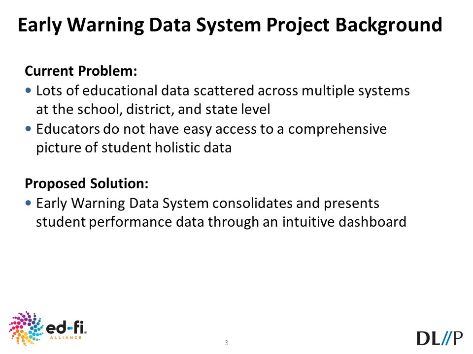 Early Warning Data System Project Background