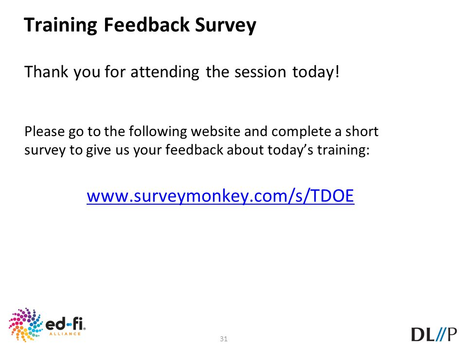 Training Feedback Survey
