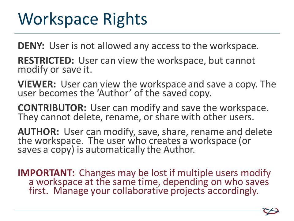 Workspace Rights