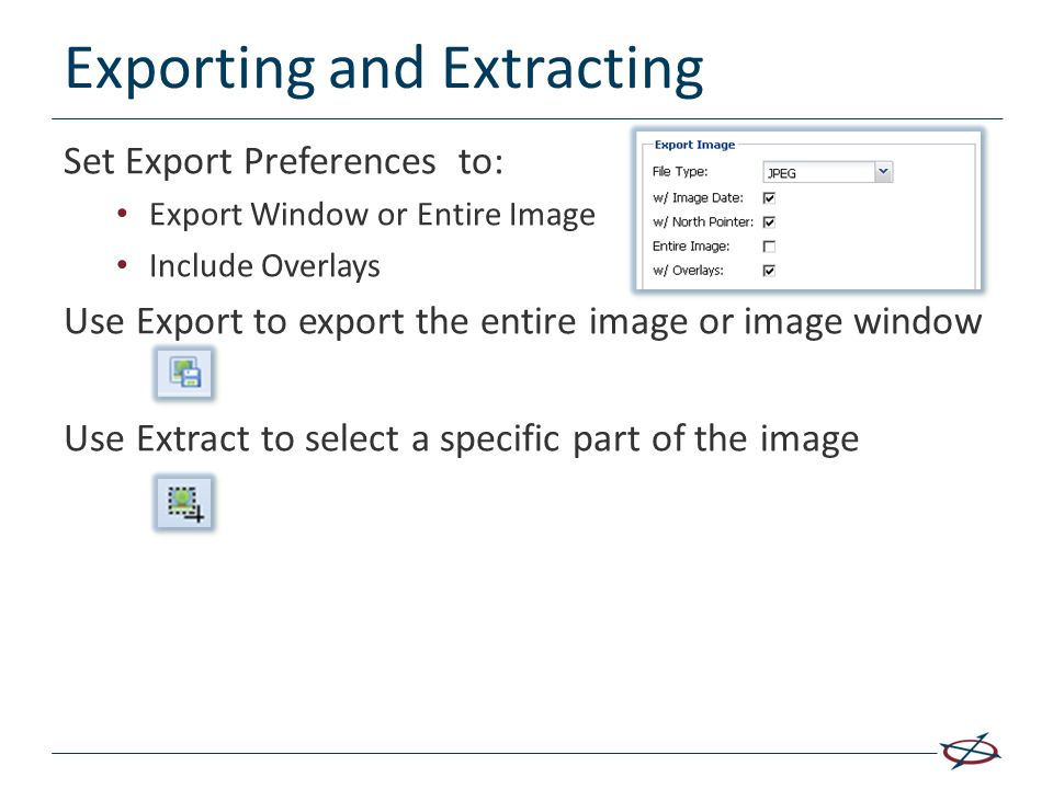 Exporting and Extracting