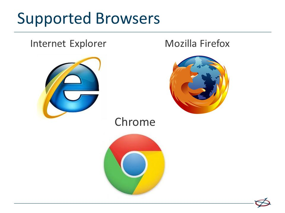 Supported Browsers Internet Explorer Mozilla Firefox Chrome