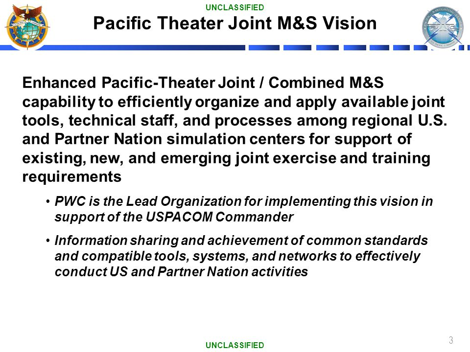 Pacific Theater Joint M&S Vision