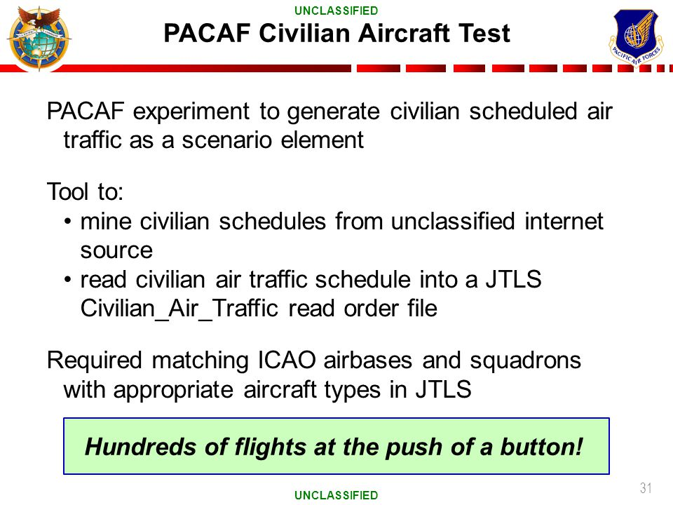 PACAF Civilian Aircraft Test