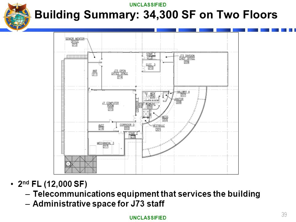 Building Summary: 34,300 SF on Two Floors