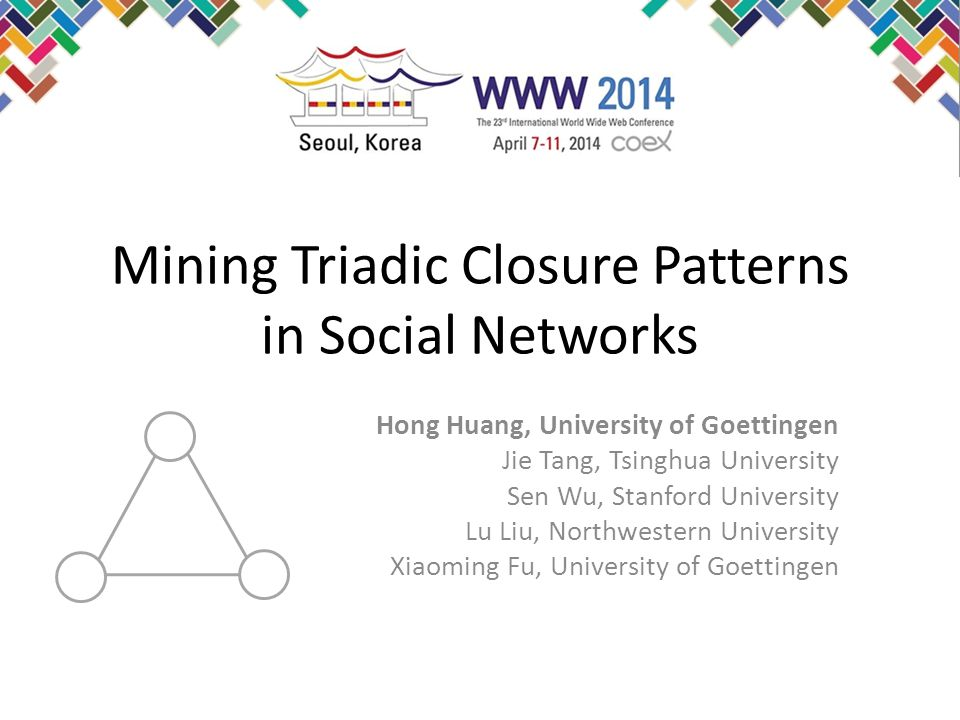 Mining Triadic Closure Patterns in Social Networks