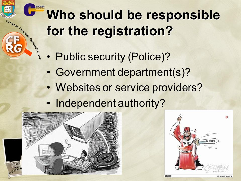Who should be responsible for the registration