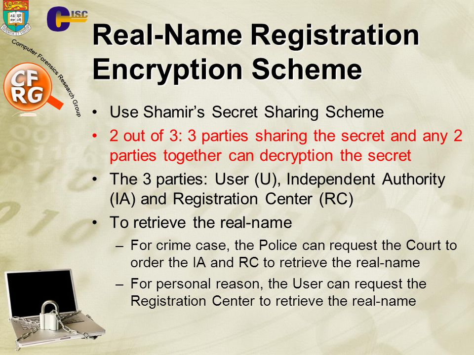 Real-Name Registration Encryption Scheme